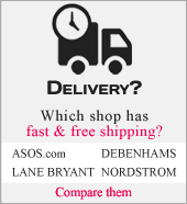 Shipping policy of Asos, Debenhams and Nordstrom